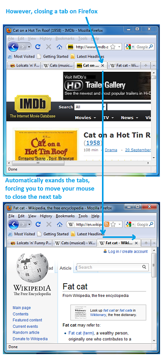 Firefox dynamic tab size upon closure